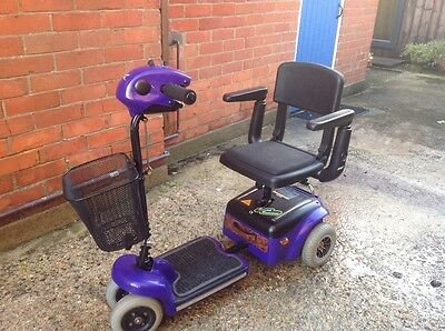 Shoprider Wispa Mobility Scooter purple NEW BATTERIES FITTED