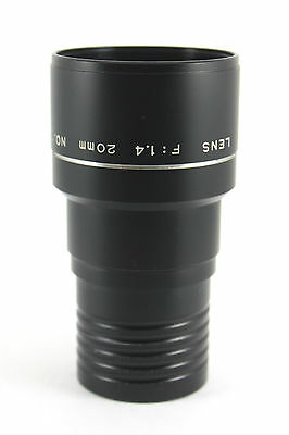 rare 20mm f1.4 WIDE ANGLE ELMO projection lens for 16A (16CL  etc)
