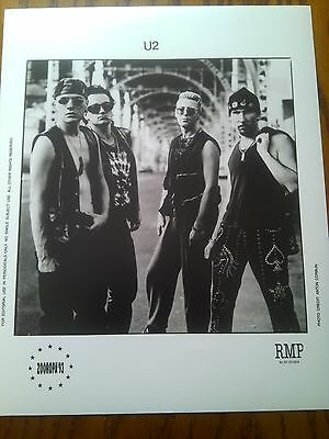 "U2 Photo Print Band Promo Shot 1990's Size 10"" x 8"" Great to Frame?"