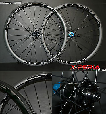X-PERIA 38 CX Pro Disc Carbone Cyclocross Roues Carbon Tubular Wheel bike disque