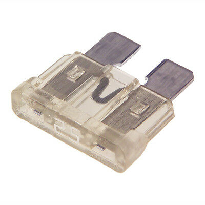25 AMP STANDARD Blade Fuse (CLEAR) Car Auto Boat 25A ATO-PACK OF 10 FUSES