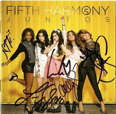 FIFTH HARMONY Autographed JUNTOS BETTER TOGETHER CD Booklet Reflection SIGNED x5