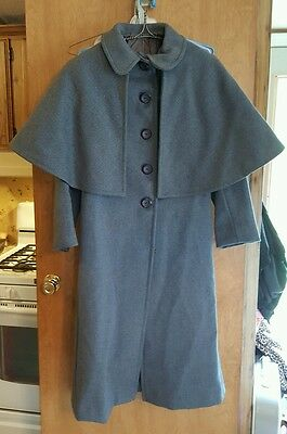 West Point Military Academy, Cadet Uniform, Vintage Long Dresscoat,Trench, Wool