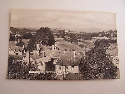 Vintage RP Postcard View from Castle Hill Builth Wells
