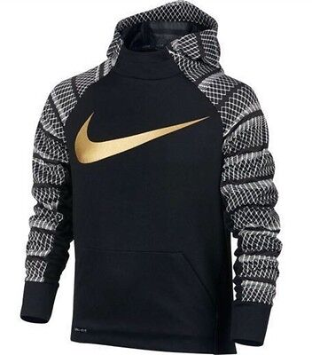 New Boy's Nike Therma-Fit KO Color Block PullOver Hoodie 826940 011 XLarge NWT