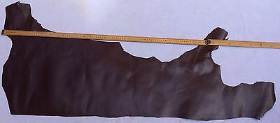Beautiful dark brown Leather Half Hide approx 130 x 55