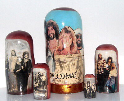 Fleetwood  Mac 5PC Stacking Nesting Doll