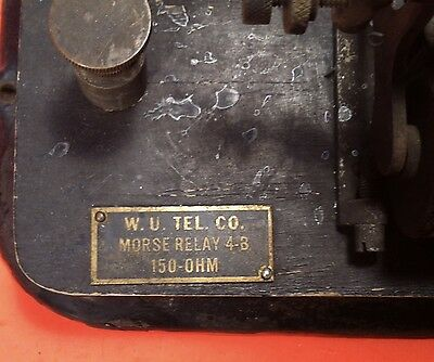 Antique Western Union Tel Co Type 4B Morse Relay 150 Ohm Telegraph Part