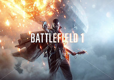 Poster Battlefield 1 tamaño A3 42 x 30 cm. (16,5 x 11,8 inches)