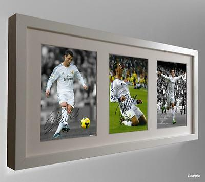 White Ltd Signed Cristiano Ronaldo Autographed Real Madrid Photo Picture Frame