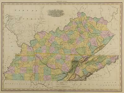 KY and TN 1823 Map, H.S. Tanner Lot 212
