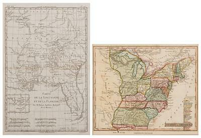 2 Maps, LA/FL and US, Late 18th and early 19th century Lot 538