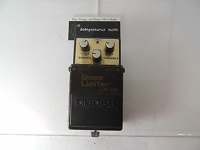 Vintage Boss Lm-2B Bass Limiter Enhancer Effects Pedal Preamp Free Shipping