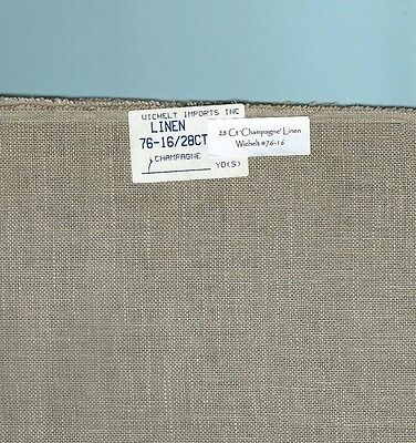 """28 Count """"Champagne"""" Linen Wichelt Imports #76-16 RETIRED, Your choice of size"""