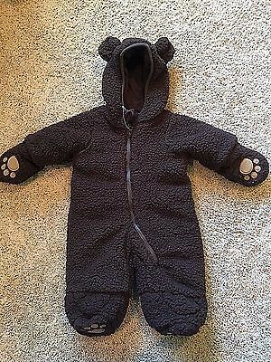 NWT Infant Boys Girls Brown Bear Bunting Snow Suit 0-3 Months