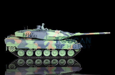 HengLong 1/16 German Leopard2A6 RTR RC Tank Plastic Version Smoke Sound 3889