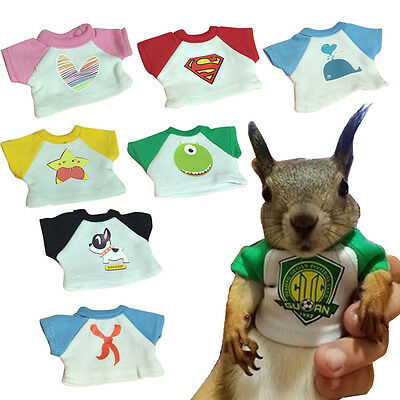 Small Animals Squirrel T-shirt Clothes Suit Dress Toy Accessories Shooting Props