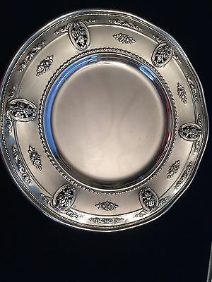 FIVE Wallace Rose Point Sterling Bread Plates / Dessert Deluxe