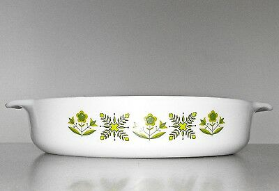 Vintage FIRE KING MEADOW GREEN BAKING DISH Ovenproof Glass RETROAnchor Hocking