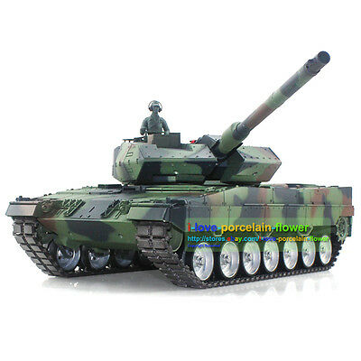 HengLong Customized 1/16 German Leopard2A6 RC Tank Metal Airsoft Smoke 3889