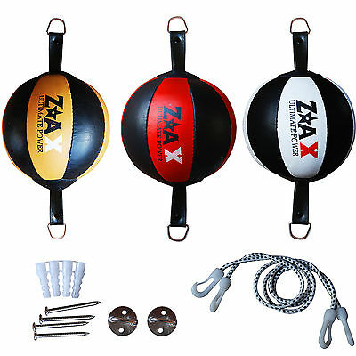 Leather Double End Ball Speed Ball MMA Floor To Ceiling Punch Bag Real Leather