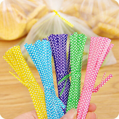 100pcs Metallic Twist Ties DIY Tool Cellophane Gift Bag For Sealing Cello