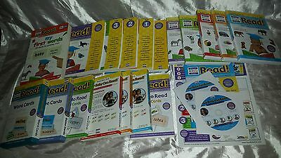 Your Baby Can Read Deluxe Kit ENGLISH Reading System DVD BOOK CARDS NEW LOT