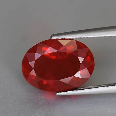 "1.68cts""Mexico"" Blood Red"" Natural Fire Opal"" Oval Cut"" PR1189"