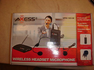 Wireless Lavalier Lapel Headset Microphone System Free Shipping New ONE SET
