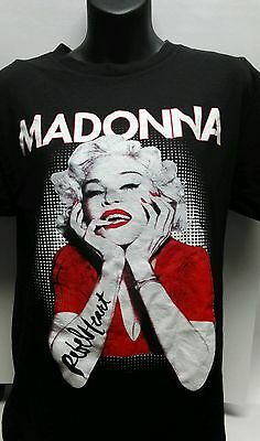 Madonna The Rebel Heart Tour 2015 T-Shirt, Size Medium Free shipping