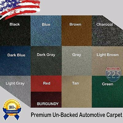 "All Colors Upholstery Durable Un-Backed Automotive Carpet 40"" Wide - By Yard LOT"