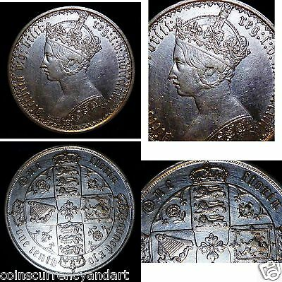 "1873 GOTHIC FLORIN / Two Shillings MDCCCLXXIII Queen Victoria ""One Of The Best """