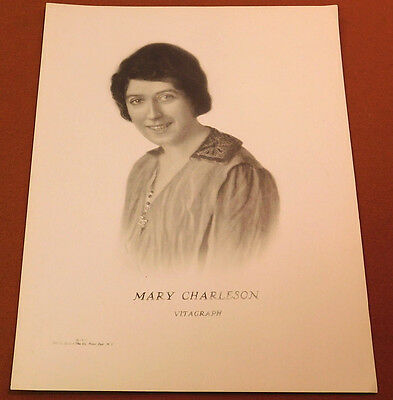 MARY CHARLESON 1913 Silent Movie Star VITAGRAPH Personality PORTRAIT LOBBY CARD