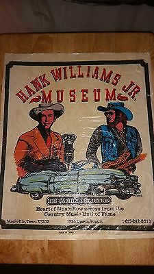 Vintage VTG Hank Williams Jr And Sr Family Tradition Museum T Shirt Iron On RARE