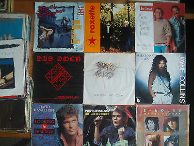 "7"" VINYL SINGLES SAMMLUNG : 66 x POP ROCK DISCO OLDIES of the 80th HITS & RARIES"