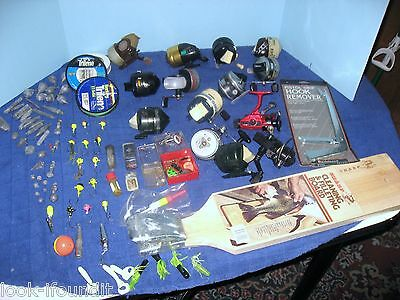 Vintage Spinning/spincasting Reels And Tackle Package/lot