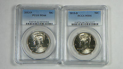 2013 P&D Kennedy Half Dollar PCGS MS66 - FREE SHIPPING