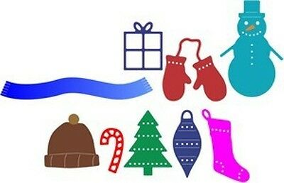 Cheery Lynn Christmas Knick Knacks dies - for use in most cutting systems