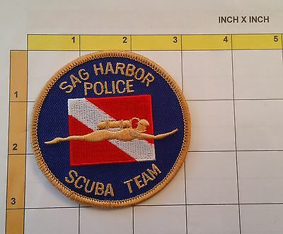 Sag Harbor Police Underwater Recovery Team Scuba Diver Officer Patch