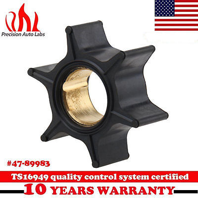 Water pump Impeller 47-89983T For Mercury Cooling Systems Watercraft 30-70HP