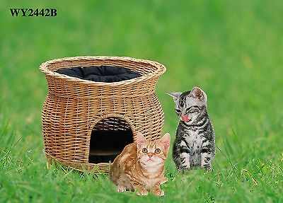 Cute Cat's House Two Storey Cat's Bed,Wicker Basekts,Cat's Bed with Cushions