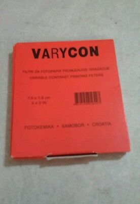 Varycon Variable Contrast Printing Filters 5 pc. set.