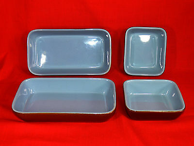 Vintage DENBY STONEWARE Serving Dishes Set of 4, MADE IN ENGLAND Circa:1950-1975
