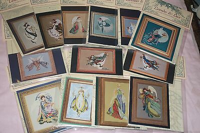 Lavender & Lace Angels or Fairies cross stitch chart pack, your choice of design