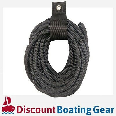 10mm x 6m Boat Dock Rope | Extra Strong Nylon Double Braid Mooring Line