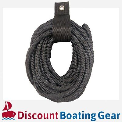 10mm x 6m Mooring Dock Line | Extra Strong Nylon Double Braid Mooring Rope