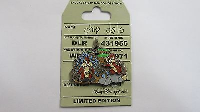 Walt Disney 2010 Chip & Dale Baggage Strap Tag - Do Not Remove Pin - LE of 1800
