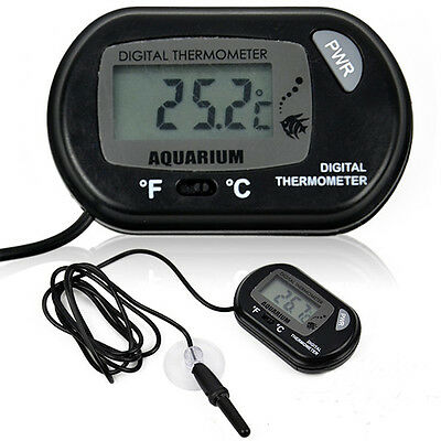 For Aquarium Fish Tank Marine Water Meter Thermometer Digital LCD Temperature