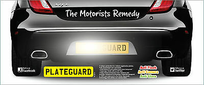 Speed Trap Number Plate Flash Protect System ONE PAIR with PlateGuard