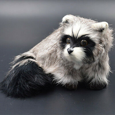 Artificial Raccoon Fate Animal Handmade Photography Props Home Decor Child Toy